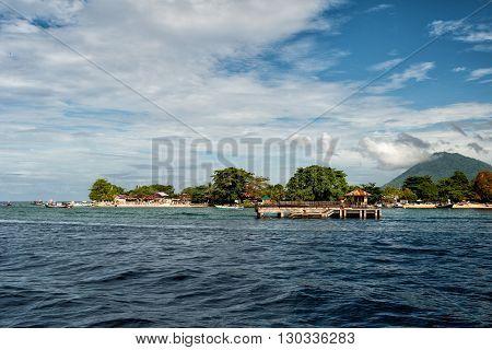 Bunaken Volcano Indonesian Fishermen Village
