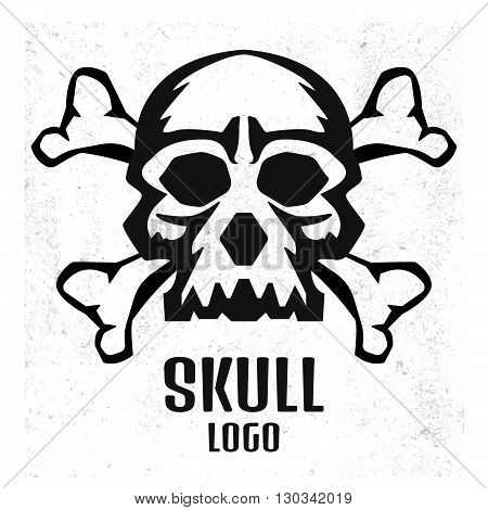 Skull Logo. Human Skull
