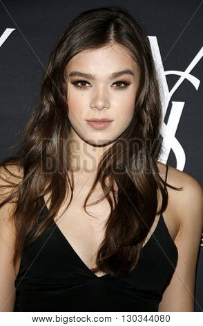 Hailee Steinfeld at Zoe Kravitz celebrates her new role with Yves Saint Laurent Beauty held at the Gibson Brands Sunset in West Hollywood, USA on May 18, 2016.