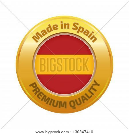 Made In Spain Badge Gold