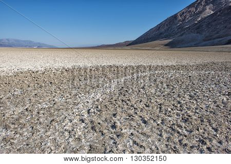 Death Valley view at Badwater Basin panorama
