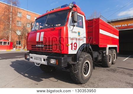 Kamaz 43114. Red Russian Fire Engine