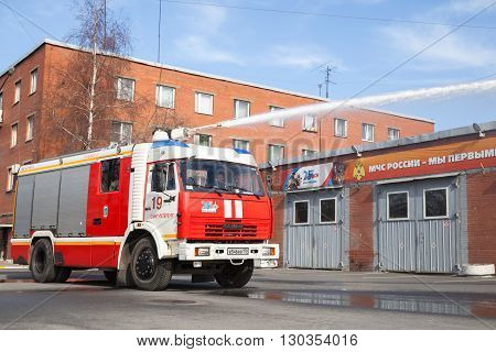 Amaz Truck 43253 As A Russian Fire Engine