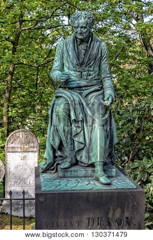 Paris, France - May 2, 2016: Vivant Denon Grave In Pere-lachaise Cemetery Homeopaty Founder