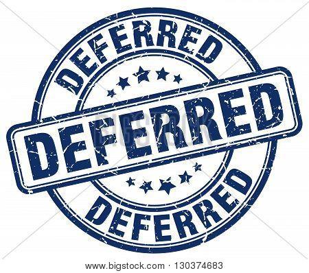 deferred blue grunge round vintage rubber stamp