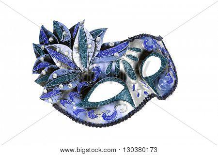Carnival Venetian mask isolated on white background.