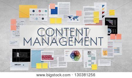 Content Management Social Media Networking Programming Concept