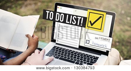 To Do List Time Management Reminder Prioritize Concept poster