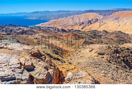 Zefahot Mount is one of the best places to overlook Israel Egypt Jordan Saudi Arabia from one peak Eilat.