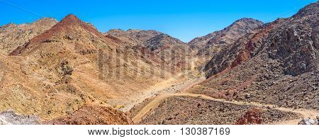 There are a lot of tourist pathes in Eilat Mountains leading to the different peaks and valleys Israel.