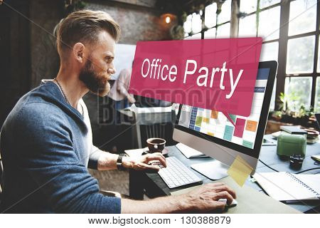 Office Party Celebrate Entertainment Social Concept