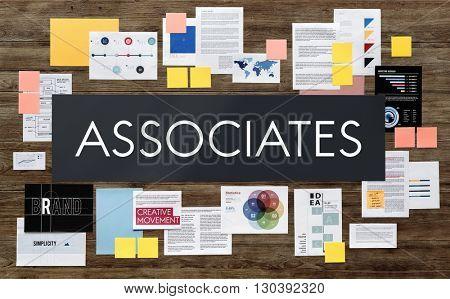 Associates Connection Corporate Teamwork Assistance Association Concept