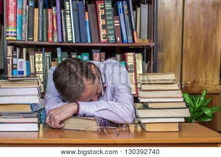 Man Fell Asleep During Reading
