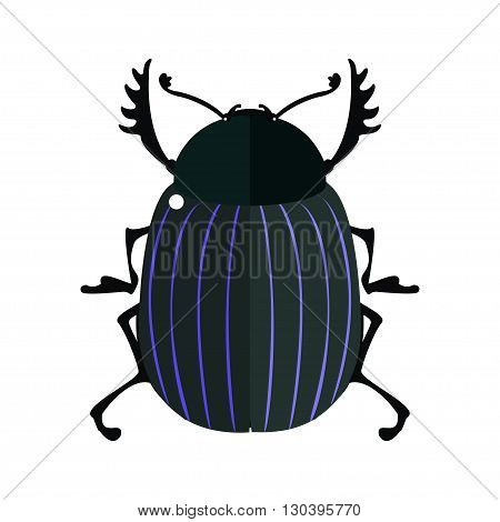 Scarab. Vector illustration of a scarab beetle. Isolated on a white background.