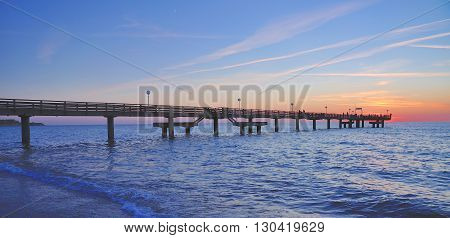 Pier of Rerik in Mecklenburg western Pomerania at baltic Sea,Germany