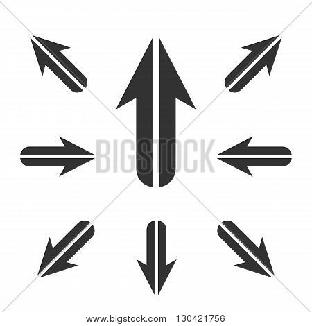 Arrow Icon. Arrow logo. Vector design element. Abstract emblem, graphic design concept. Logotype element for template. Vector illustration on white background - stock vector