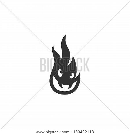 Fire Icon. Fire logo. Vector design element. Abstract emblem, graphic design concept. Logotype element for template. Vector illustration on white background - stock vector