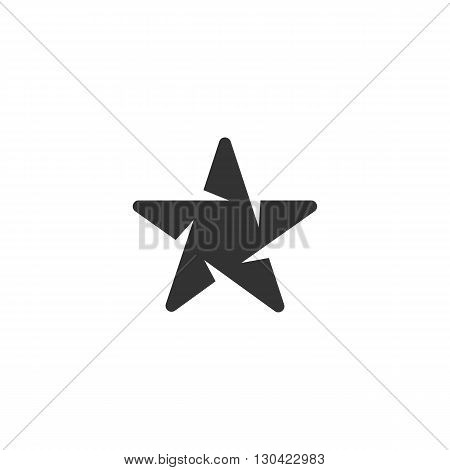 Star Icon. Star logo. Vector design element. Abstract emblem, graphic design concept. Logotype element for template. Vector illustration on white background - stock vector