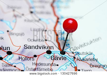 Gavle pinned on a map of Sweden
