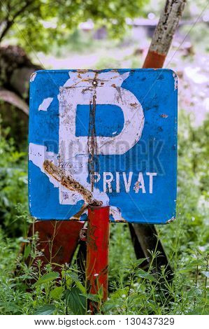 marked parking as private. private parking on a plot