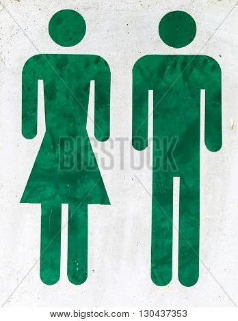 logo man and woman in a toilet
