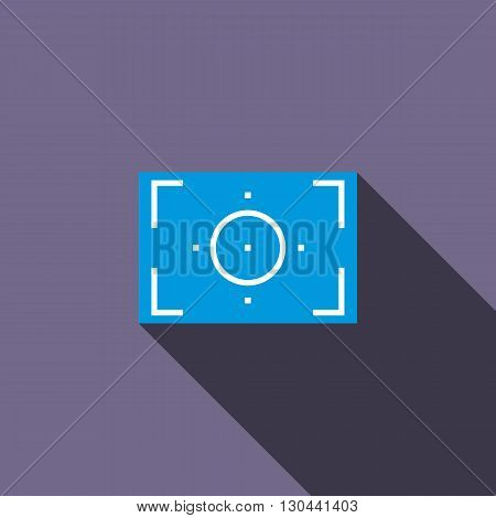 Camera viewfinder icon in flat style on a violet background