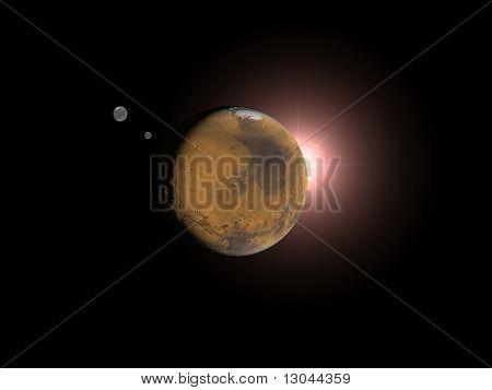 Mars eclipse