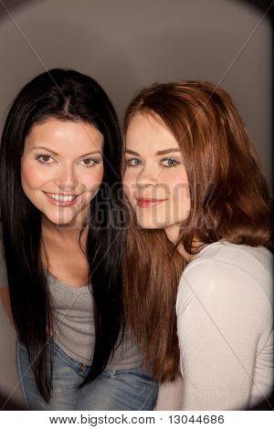 Smiling Girlfriends