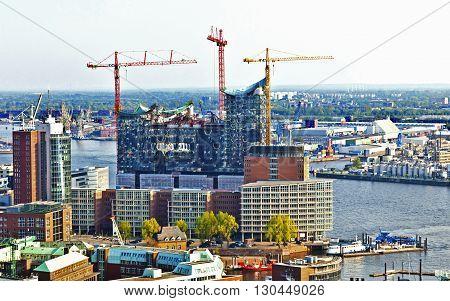 View At Elbphilharmonie In Hamburg