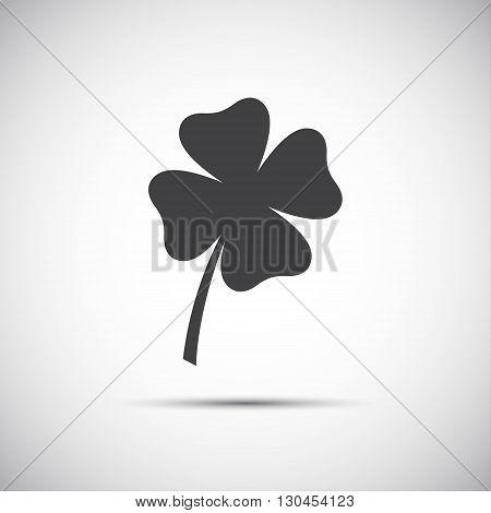 Simple icon clover leaf four leaf clover vector illustration