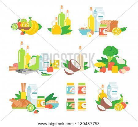 Food vector illustration.