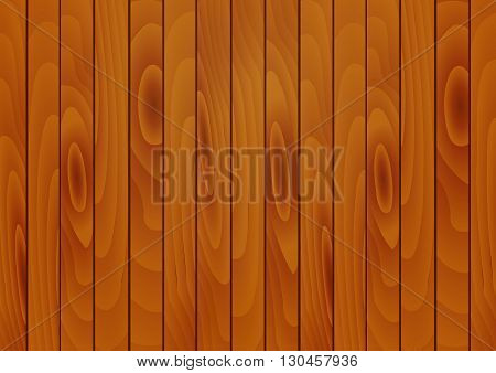 Vector illustration of a realistic wooden background of Brown boards