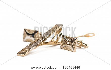 link, elegance cufflinks on a white background