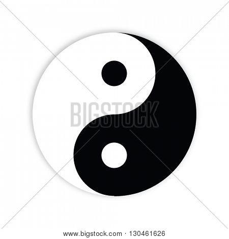 Yin yang symbol - design element