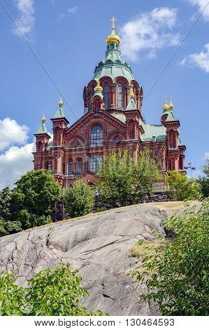 Eastern Orthodox cathedral Uspenskin in Helsinki Finland