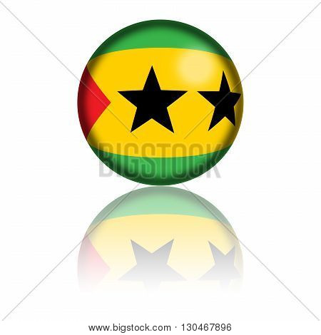 Sao Tome And Principe Flag Sphere