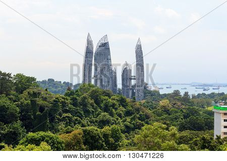Reflections At Keppel Bay Seen From Mount Faber Rainforest