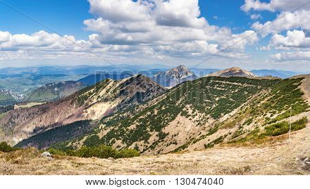Little Fatra Hills In Spring Season, Slovakia, Europe
