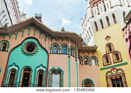 views of the Izmailovo Kremlin tower in Moscow. Russia