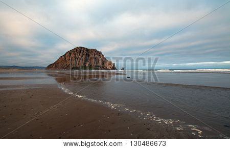 Morro Rock at sunrise - Morro Bay Central Coast California USA