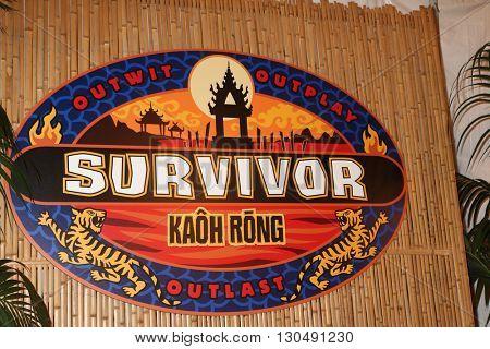 LOS ANGELES - MAY 18:  Survivor: Kaoh Rong Emblem at the Survivor: Kaoh Rong Finale at the CBS Radford on May 18, 2016 in Studio City, CA