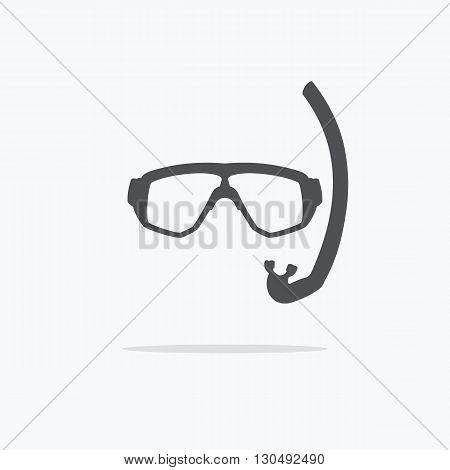 Mask for diving. Icon mask for diving. Vector illustration on a light background.