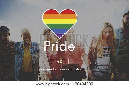 Pride Queer Gay Transgender Transexxual Homosexual Concept