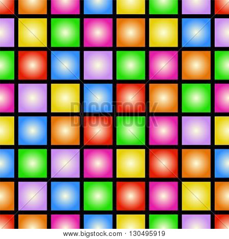 Funky colorful tileable 80s style vector wallpaper that repeats left right up and down