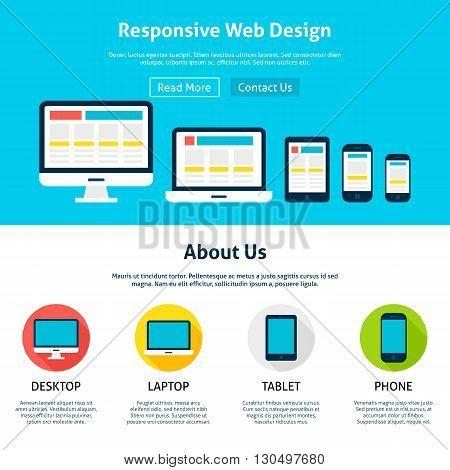 Responsive Flat Web Design Template