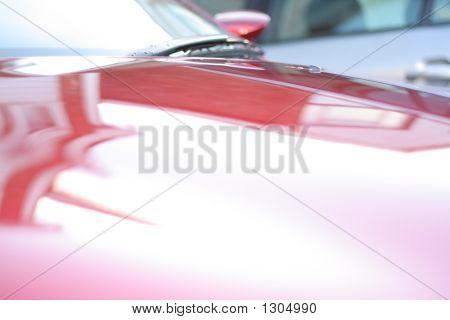 Red Hood/Bonnet Of A Car