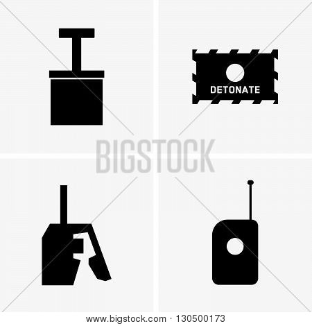 Detonators ( shade picture ) on grey background