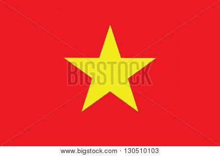 Vector of official flag of Vietnam country, Vietnam flag illustration