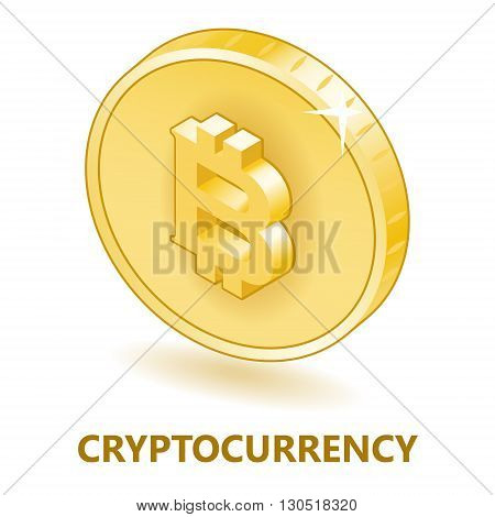bitcoin cryptocurrency symbol, isolated vector image for your projects