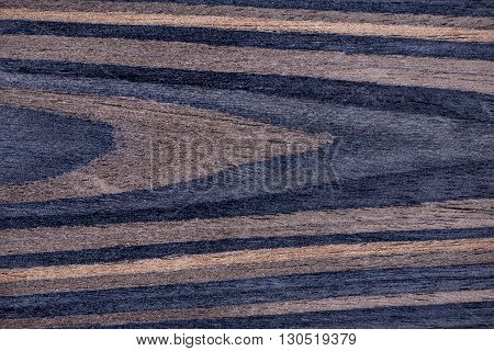 Texture of rich grain striped ebony veneer